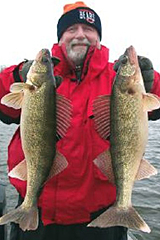 Tom Gursky with Walleyes